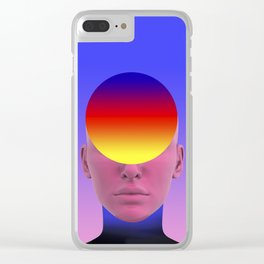 Gradient face Clear iPhone Case