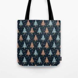 Winter. Christmas tree . Tote Bag