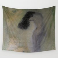 imagerybydianna Wall Tapestries featuring la chambre verte by Imagery by dianna