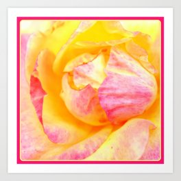Tropical Rose   Flowers   Nadia Bonello Art Print