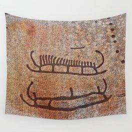 Pictogram at Vitlycke, Sweden 1 Wall Tapestry