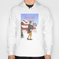 will ferrell Hoodies featuring Christmas Cheer / Elf by Earl of Grey