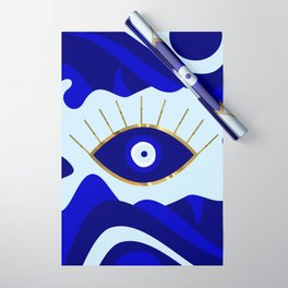 Lava All Seeing Evil Eye Wrapping Paper
