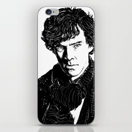 Sherlock B&W iPhone Skin