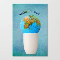 world cup Canvas Prints featuring World cup by Anne Seltmann