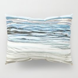 Abstract waves on the beach Pillow Sham