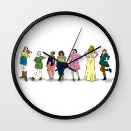 Fashion Line Up Wall Clock