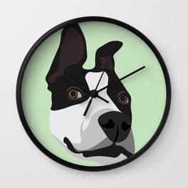 Silly Pitbull Wall Clock