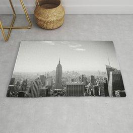 Manhattan - Empire State Building Panorama | B/W Rug