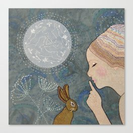 Secret of The March Moon Canvas Print
