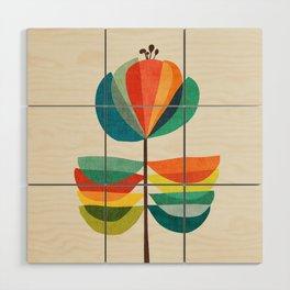Whimsical Bloom Wood Wall Art