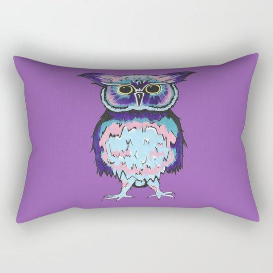 Small Purple Owl Rectangular Pillow