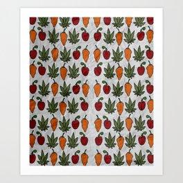 Hot bud and berry Art Print