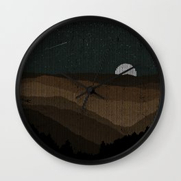 Moonrise (Sepia) Wall Clock