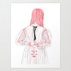 DoodleGirl Two Art Print