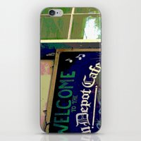 cafe iPhone & iPod Skins featuring Cafe by Glenn Designs