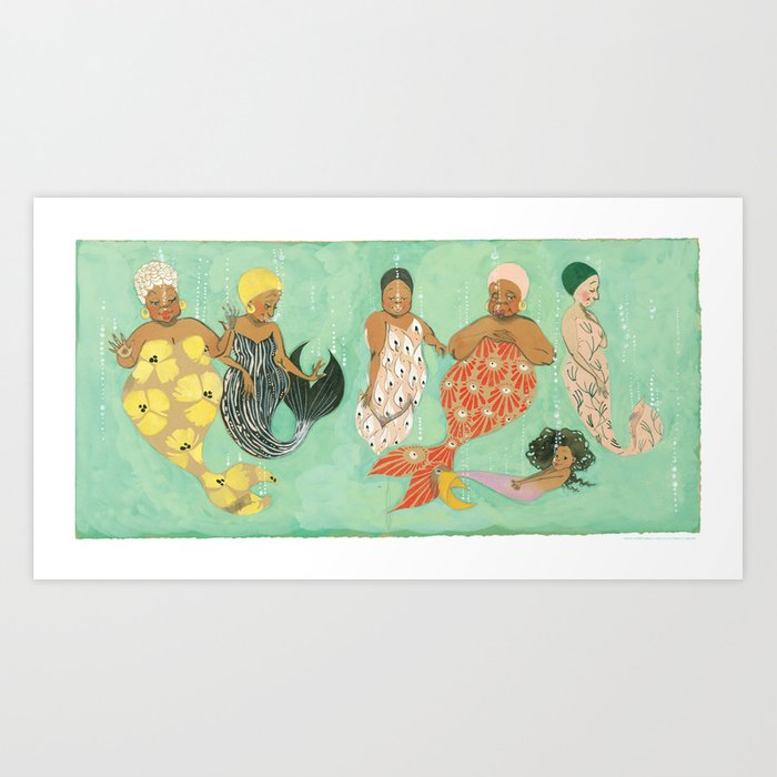 Everyone a Mermaid Art Print