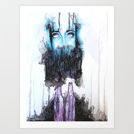 Alcohol dependence Art Print
