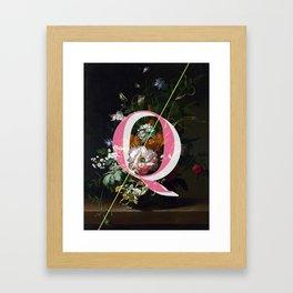 Letter Q Framed Art Print
