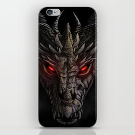 Red eyed dragon iPhone Skin