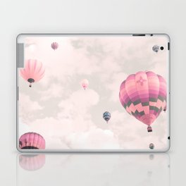 Hot air balloons, violet II Laptop & iPad Skin