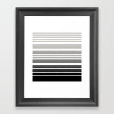 Bay Ombre Stripe: Gray Black Framed Art Print