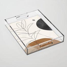 Abstract Art /Minimal Plant Acrylic Tray