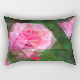 Pink Roses in Anzures 1 Art Triangles 1 Rectangular Pillow