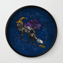 Midnight Vixen Wall Clock