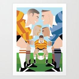 Rugby Scrum for Handsome Devil Press Art Print