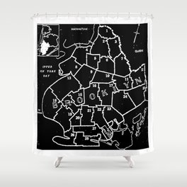 Brooklyn Vintage Map 1957 Shower Curtain