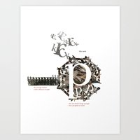 Breeding Habits - The Penguins of Manly, Australia - A Typographic Exploration Art Print