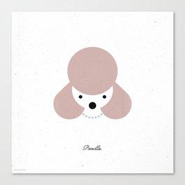 Pedigree: Poodle Canvas Print