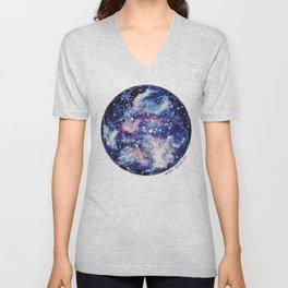 Nebula Planet with Seed of Life Unisex V-Neck