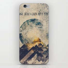 One mountain at a time iPhone Skin