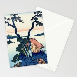 Katsushika Hokusai - 36 Views of Mount Fuji (1832) - 35: A View of Mount Fuji Across Lake Suwa (Lake Stationery Cards