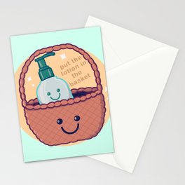 Lotion Basket Stationery Cards
