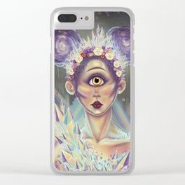 Crystal Cyclops Clear iPhone Case