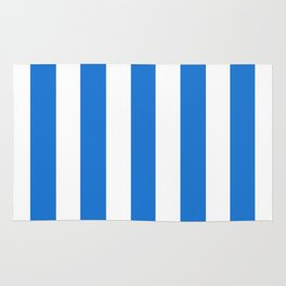 Navy blue (Crayola) - solid color - white vertical lines pattern Rug
