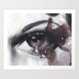 Coffee in my eye Art Print
