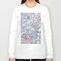 mexico Long Sleeve T-shirts featuring Mexico map by MapMapMaps.Watercolors
