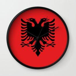 Albanian Flag - Hight Quality image Wall Clock