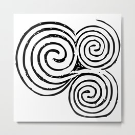 Newgrange Celtic Spiral Metal Print