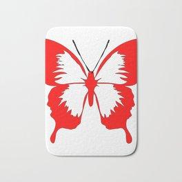 Beautiful Red butterfly Bath Mat