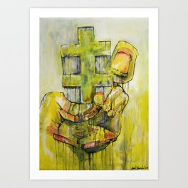 Pull Out Art Print