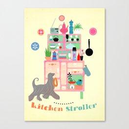 Kitchen Stroller Canvas Print