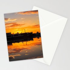 Sunrise arcross the water Stationery Cards