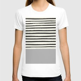 Storm Grey x Stripes T-shirt