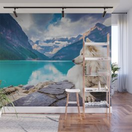 Wolf in Paradise (Color) Wall Mural