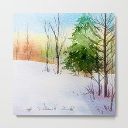 Winter Forest 5 Metal Print